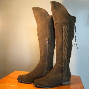 Over the Knee Spokane Riding boots w/corset lacing